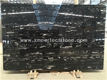 Silver Dragon Dark Marble Slabs with Natural Wave