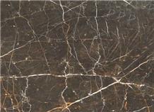 Ash Wood Marron Emperador Marble Slab Tile