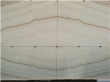 White Wooden Vein Onyx Slabs Book Matched Interior