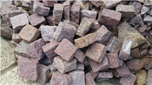 Red Granite Cobbles/ Cubes