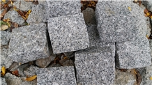 White Grey Granite Cobbles/ Cubes