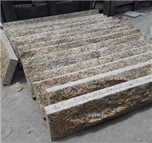 Yellow Granite Mushroom Stone for Garden Walling