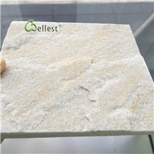 Split Beige Quartzite Wall Cladding Stone Tiles