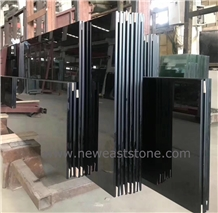 Absolute Black Nano Crystal Glass Stone Slabs Tile
