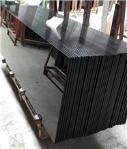 Absolute Black Nano Crystallized Glass Stone Slabs