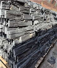 Natual Charcoal Black Random Quartzite Ledge Stone