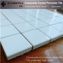 Artificial White Crystal Marble Mosaic,Composite Crystal Mosaic High Gloss & Polished