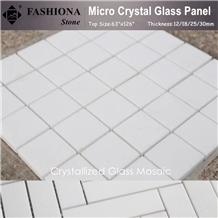 White Crystallized Glass Stone Mosaic,High Gloss & Polished