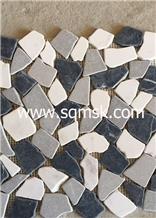 Nero Marquina Mix Irregular Shape Marble Mosaic