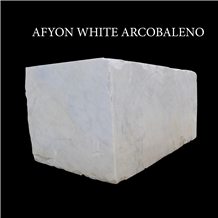 Afyon White Marble Blocks and Slabs