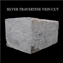 Silver Travertine, Grey Travertine Blocks