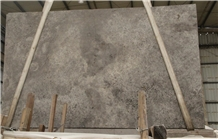 Silver Travertine Cross Cut Grey Color Tile Slab