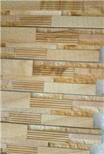 Teak Wood Sandstone Mosaic Pattern 3