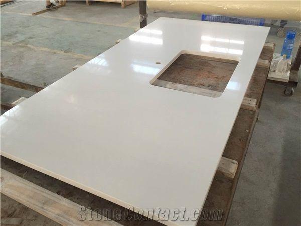 Prefab Quartz Stone Kitchen Countertop