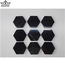 Black Marble Coasters,Drink,Home,Office Decor