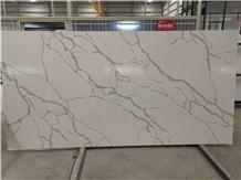 Engineered Marble Look Calacatta White Quartz