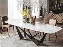 Natural Stone Restaurant Tables Calacatta Marble