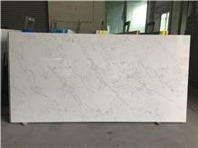 White Artifical Stone Quartz,Sparkle Carrara White