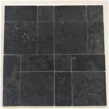 Kota Black Limestone Pattern Paving Slabs Price
