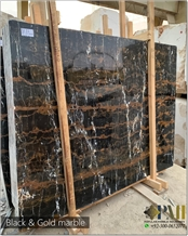 Black and Gold Marble Slabs
