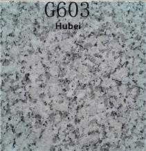 Light Grey 603 Granite Tiles, Hubei G603 Granite