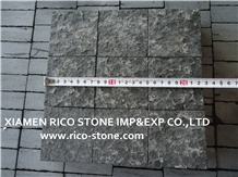 Basalt Zhangpu Black Granite Cubble,Pavers,Floor