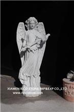White Marble Western Garden Religious Sculptures