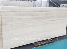 Wooden White Marble Serpeggiante Light Slabs