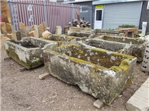 Hard York Grey Stone Planters