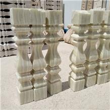 Titanium White Onyx Balustrades