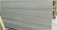 Striatto Olympia White Marble Slabs
