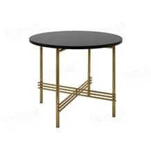 Black Round Nero Margiua Marble Coffee Table