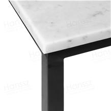 Custom Rectangular White Marble Table Metal Base