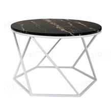 Portoro Extra Marble Metal Coffee Table