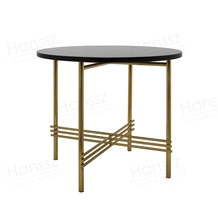 Round Marble Table Gold Mental Frame