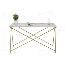Square White Marble Table Metal Frame