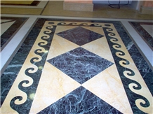 Floor Design in Helicon Gold and Tinos Green