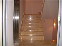 Helicon Gold Marble Stairs