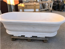 Bianco Carrara Marble Bathtub