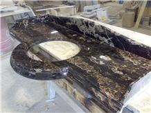 Nero Portoro Marble Vanity Top