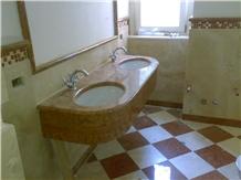 Rosso Asiago Marble Bath Design
