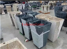 Natural Granite Stone Hand Carved Fountain