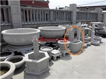Natural Grey Granite Fountain
