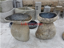 Natural Stone Grey Granite Fountain