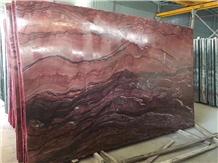 Fusion Fire Quartzite Slab Red Color Wave Vein