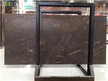 Leather Quicksand Brown Granite Cross Vein
