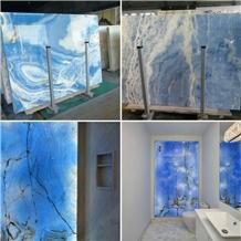 Artificial Blue Onyx Composite Panels