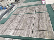 Iran Sliver Grey Travertine Tiles & Slabs