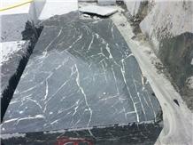 Spider Green Marble Block