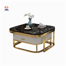 Natural Stone Marble Top Dining Table